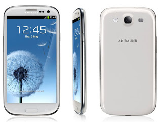 Samsung Galaxy S3 front,Side and Back view